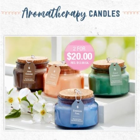 2 for $20 Aromatherapy Candles from The Paper Store