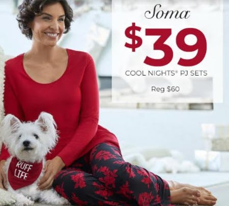 $39 Cool Nights PJ Sets from Soma Intimates