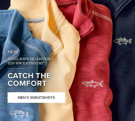 New Angeler's Quarter Zip Sweatshirt