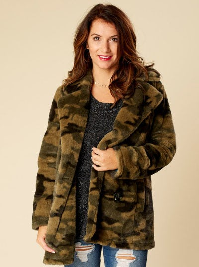 Altar'd State Camo Wubby Coat from Altar'd State
