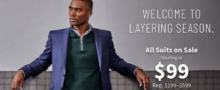 All Suits on Sale Starting at $99