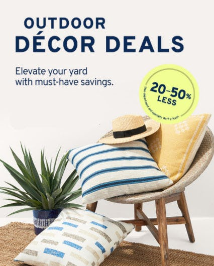20-50% Less Outdoor Decor Deals from Marshalls