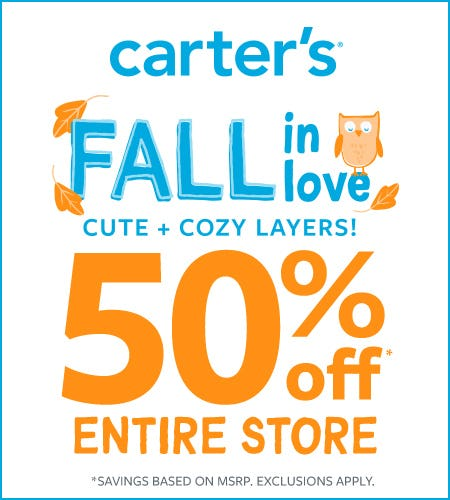 Fall In Love- 50% Off Entire Store from Carter's