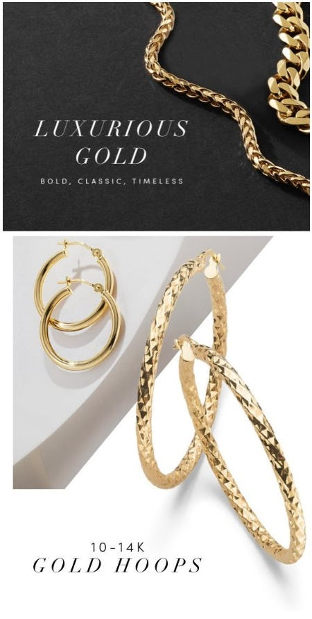 Gold Jewelry to Keep an Eye On from Jared Galleria of Jewelry