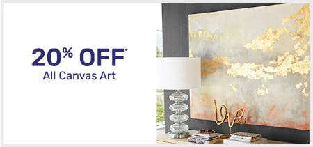 20% Off All Canvas Art from Pier 1 Imports