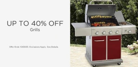 Up to 40% Off Grills