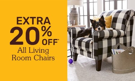 Extra 20% Off All Living Room Chairs from Pier 1 Imports