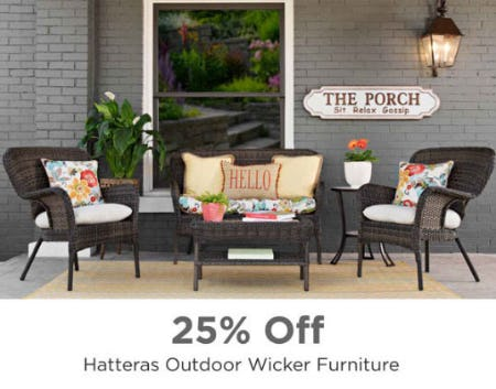 25% Off Hatteras Outdoor Wicker Furniture from Kirkland's