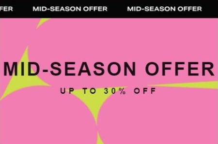 Mid-Season Offer up to 30% Off from Scotch & Soda