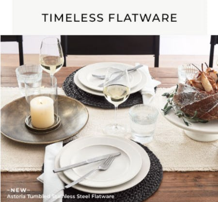 Timeless Flatware from Pottery Barn