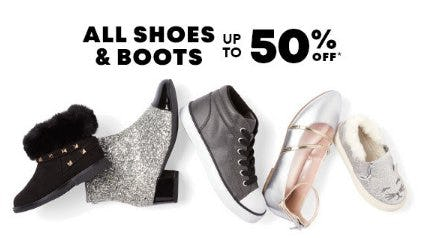 All Shoes & Boots up to 50% Off from The Children's Place