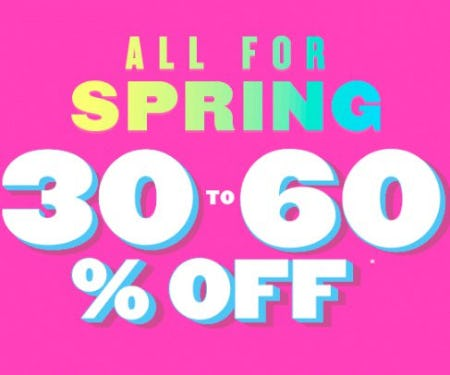 All for Spring 30 to 60% Off from The Children's Place