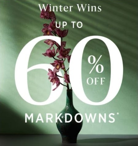 Up to 60% Off Markdowns from West Elm