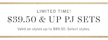 $39.50 & up PJ Sets from Victoria's Secret