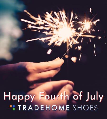 Fourth of July Sale from Tradehome Shoes