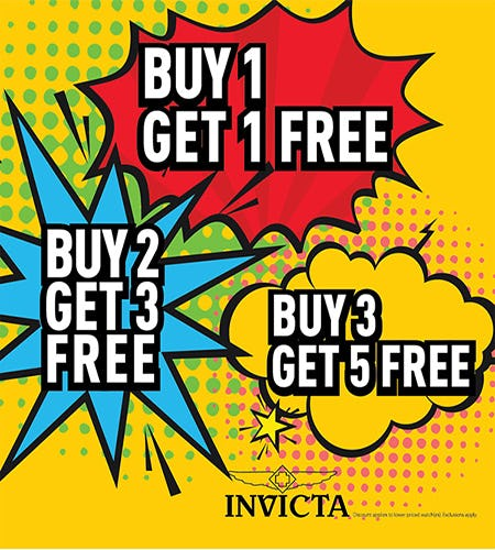 Buy 3 Get 5 Free At Invicta from Invicta