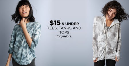 $15 & Under Tees, Tanks & Tops from Kohl's