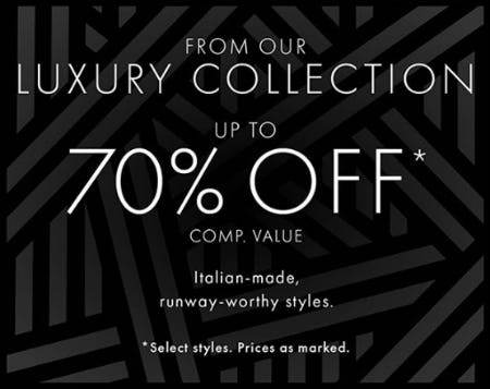 Up to 70% Off Comp. Value on our Luxury Collection from DSW Shoes
