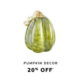 20% Off Pumpkin Decor from Pier 1 Imports