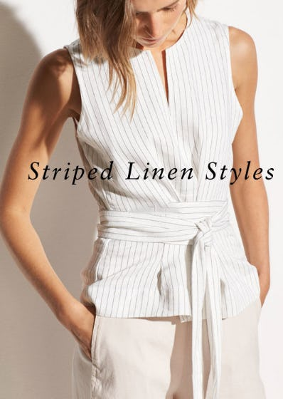 The Striped Linen Styles from Vince