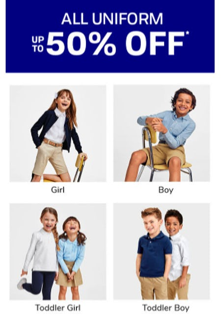 All Uniform up to 50% Off from The Children's Place Gymboree