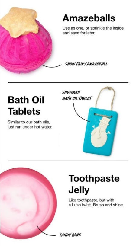 New Ranges for Christmas from LUSH
