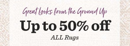 Up to 50% Off All Rugs from Cost Plus World Market