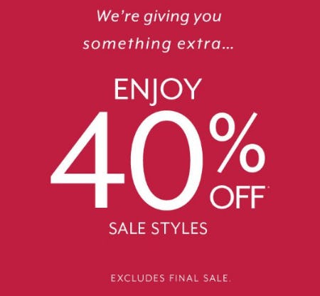 Enjoy 40% Off Sale Styles from White House Black Market