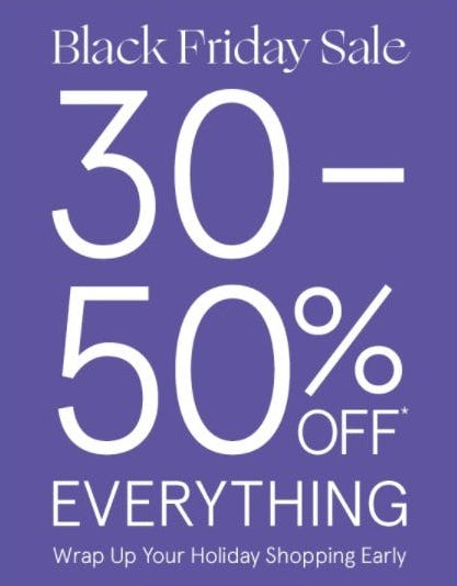30–50% Off Everything
