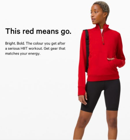 Make a Fresh Start in Red Gear from lululemon