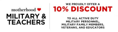 Military & Teachers 10% Discount