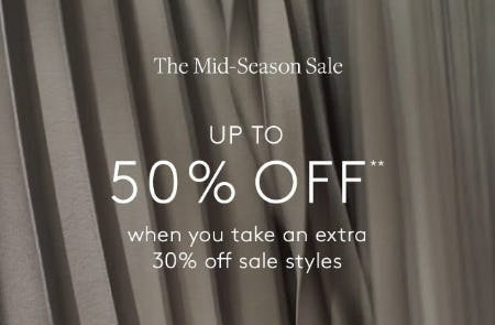 The Mid-Season Sale: Up to 50% Off from Club Monaco