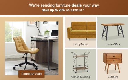 Save Up to 25% on Furniture from Target