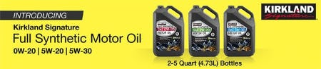 Introducing: The Kirkland Signature Full Synthetic Motor Oil from Costco
