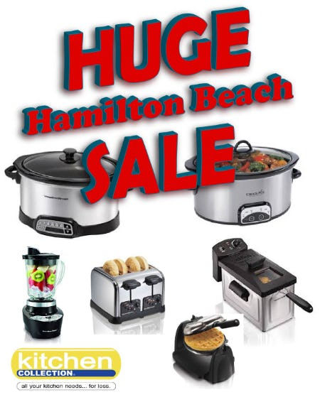 Save 40% off select Hamilton Beach appliance from Kitchen Collection