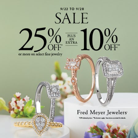 Hello Fall Sale from Fred Meyer Jewelers