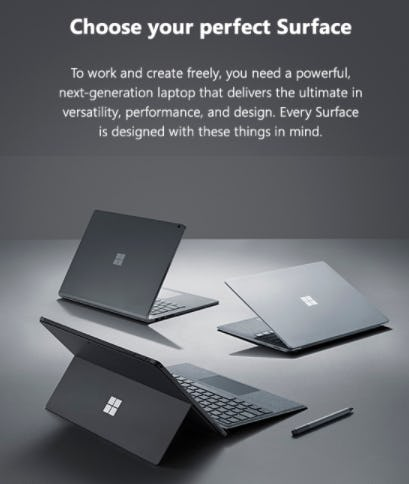 Choose Your Perfect Surface from Microsoft