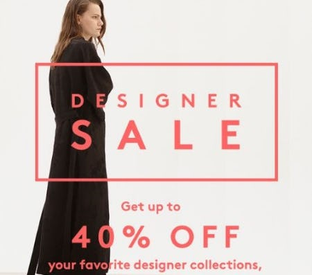 Designer Sale up to 40% Off from Barneys New York