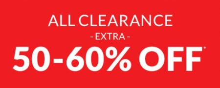 Extra 50-60% Off All Clearance