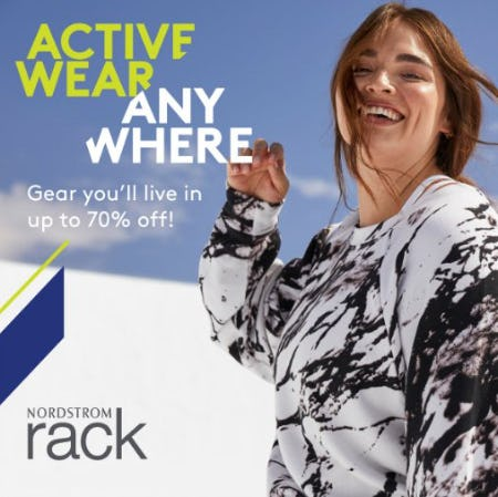 Activewear Anywhere! Gear You'll Live In Up To 70% Off at Nordstrom Rack