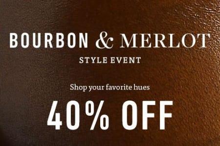 Bourbon & Merlot Style Event 40% Off from Allen Edmonds