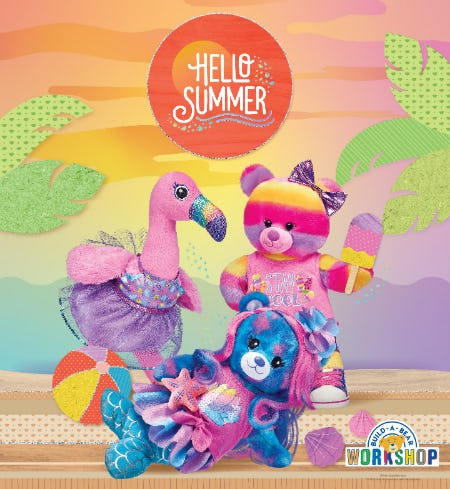 Hello, Summer – And Hello HOT New Arrivals at Build-A-Bear Workshop! from Build-A-Bear Workshop