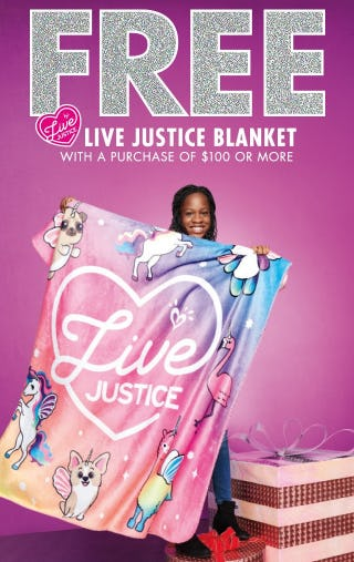 Free Live Justice Blanket from Justice