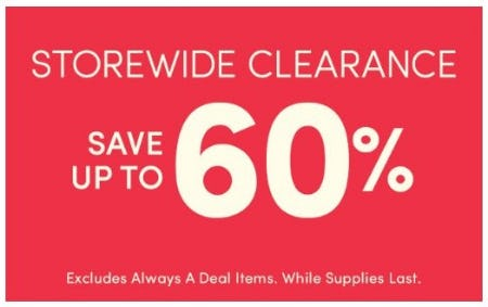 Storewide Clearance up to 60% Off from Cost Plus World Market