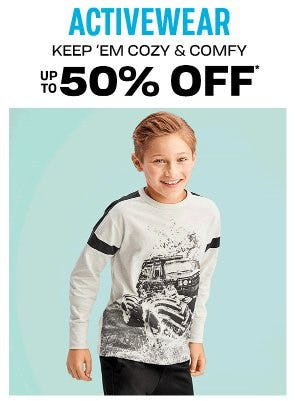 Activewear up to 50% Off from The Children's Place