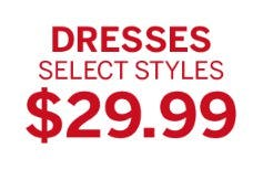 $29.99 Dresses from Dressbarn