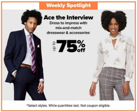 Up to 75% Off Mix and Match Dresswear & Accessories from Belk