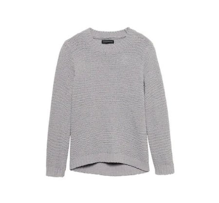 Chenille Crew-Neck Sweater