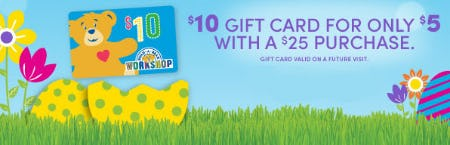 $10 Gift Card For Only $5 from Build-A-Bear Workshop