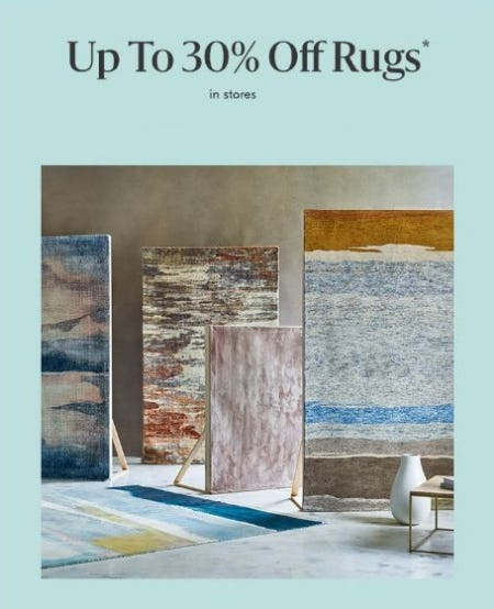 Up to 30% Off Rugs from West Elm